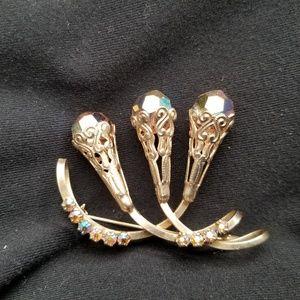 Jewelry - # B8,714 Aurora Borealis Boach Brooch Pin Vintage